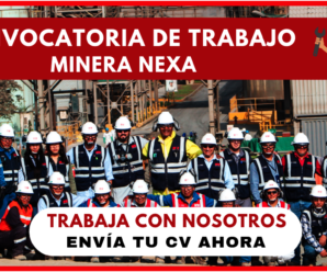 Nueva Convocatoria Laboral Minera Nexa Resources Perú S.A.A.