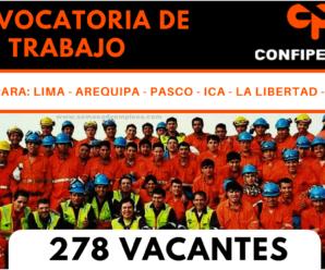 CONFIPETROL ANDINA S.A.  Solicita personal Urgente 278 Plazas
