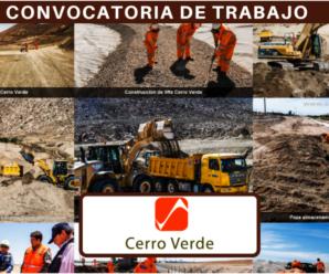 Nuevas Vacantes para trabajar en SOCIEDAD MINERA CERRO VERDE S.A.A. 13 Plazas