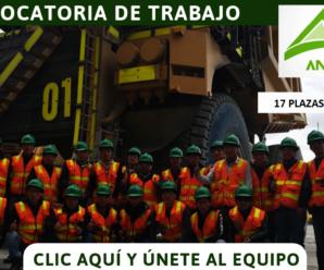 Vacantes para trabajar en Compañía Minera Antapaccay 17 Plazas