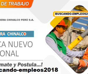 Compañia Minera Chinalco Solicitando Personal para Proyecto Minero