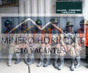 Oportunidad de trabajo Consorcio Minero Horizonte Reclutando personal