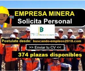 Convocatoria laboral Nuevas Vacantes para trabajar en Compañía de Minas Buenaventura 374 Plazas