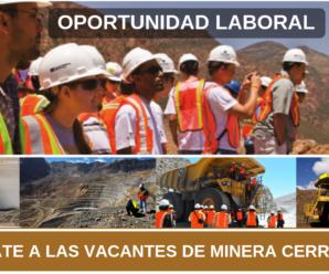 Vacantes para trabajar en SOCIEDAD MINERA CERRO VERDE S.A.A. 4 Plazas Disponibles