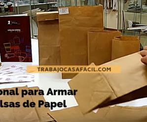 Se Solicita Personal Para armar Bolsa de Papel y Cajas Desde casa