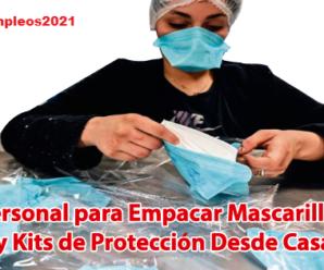 Se Requiere Personal para empacar y armar Kit de Protección contra el virus desde casa Plazas Limitadas